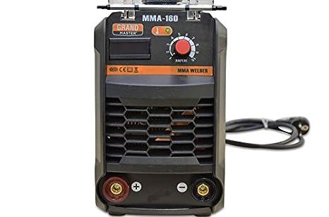 Soldador Inverter Soldadora Equipo de Soldadura Electrodo Electrodo hasta 4.0mm Maquina de Soldar (160 A, IGBT, Pantalla LED, incl. accesorios): Amazon.es: ...