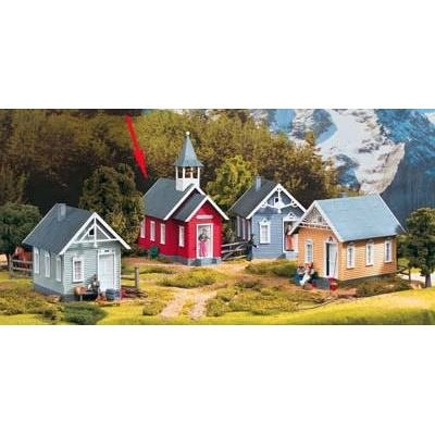 (PIKO G SCALE MODEL TRAIN BUILDINGS - LITTLE RED SCHOOLHOUSE - 62243)