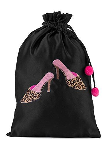 (Travel Leopard Mules Shoe Bag)
