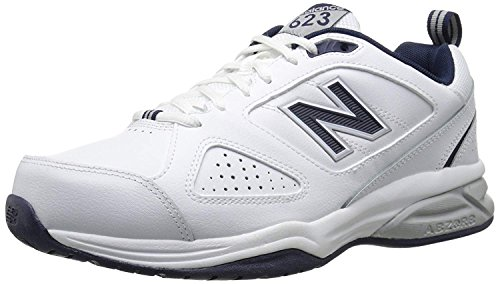New Balance Men's MX623v3 Casual Comfort Training Shoe,  White/Navy, 13 W -