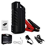 Vozada 800A Peak 18000mah Car Jump Starter 12V (up to 4.0L Gas or 3.0L Diesel Engine), Portable Power Pack with LCD Screen with LED Light and Dual USB Charge