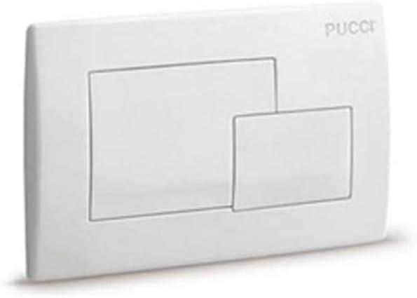 Pucci Cassette Placa Caja de Empotrar Con 2 Botones Marco MOD.2011 Color Blanco: Amazon.es: Hogar
