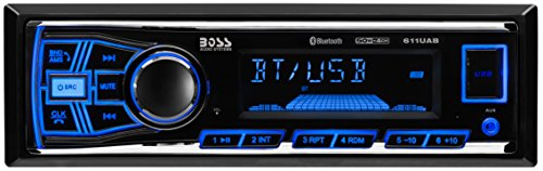 Car Stereo | BOSS Audio 611UAB Single Din, Mech-Less Multimedia Player (no CD/DVD), Bluetooth Fusion Media Player