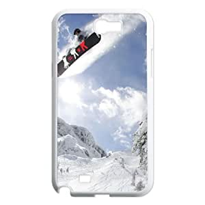 Snowboarding Samsung Galaxy N2 7100 Cell Phone Case White Phone cover F7635104