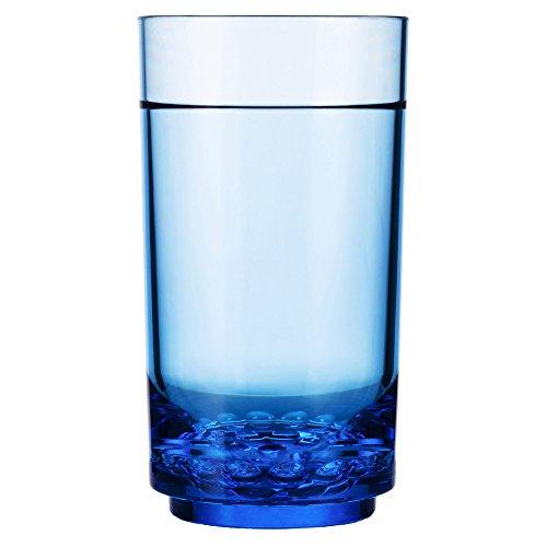 Drinique ELT-TA-BLU-24 Elite Tall Unbreakable Tritan Highball Glasses, 14 oz (Case of 24), Blue by Drinique (Image #2)