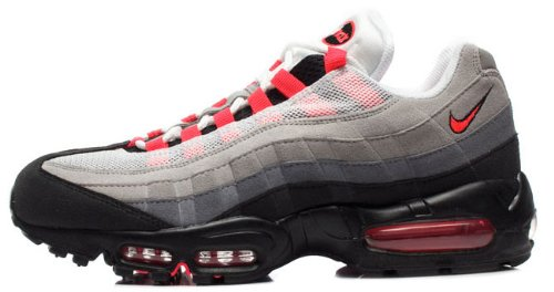 Nike Air Max 95 Mens Running Shoes [609048-106] White/Solar Red-Neutral Grey-Medium Grey Mens Shoes 609048-106-9.5
