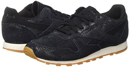 Reebok Klassieke Lederen Exotische Sneakers Voor Dames Zwart Zwart