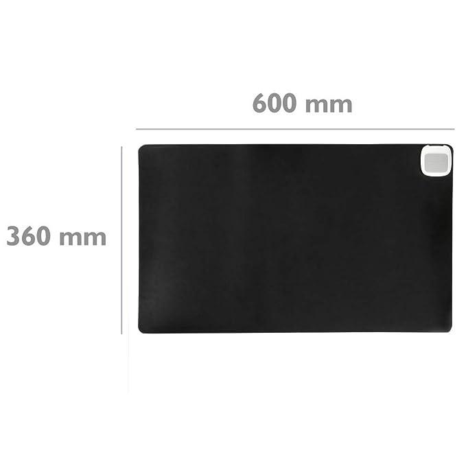 PrimeMatik - Alfombra y Superficie térmico con calefacción para Escritorio Suelo y pies de 60 x 36 cm 65W Negro: Amazon.es: Electrónica
