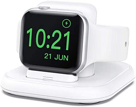 Conido Charging Stand for Apple Watch, Watch Charger Stand with Charging Cable, Magnetic Wireless Charging Station Compatible with Apple Watch SE Series 6/5/4/3/2/1/44mm/42mm/40mm/38mm- White