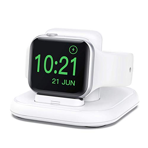 cargador inalambrico para apple watch 6/5/4/3/2/1/se blanco