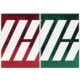 iKON-[WELCOME BACK] DEBUT FULL ALBUM RED VER CD+64p Photo Book+16p Big Post Card+1p Sticker+1p Photo Card+3p Polaroid K-POP Sealed YG