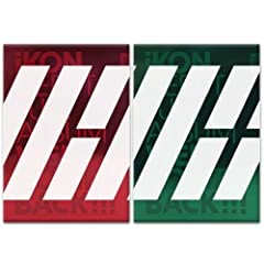 iKON-[WELCOME BACK] DEBUT FULL ALBUM GREEN VER package consists of CD+64p Photo Book+16p Big Post Card+1p Sticker+1p Photo Card+3p Polaroid