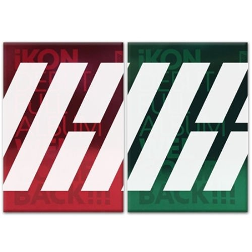 iKON-[WELCOME BACK] DEBUT FULL ALBUM GREEN VER CD+64p Photo Book+16p Big Post Card+1p Sticker+1p Photo Card+3p Polaroid K-POP Sealed YG