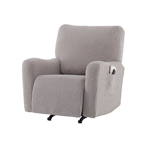 BrylaneHome Studio Ikat Stretch Recliner Slipcover (Gray,0) by BrylaneHome
