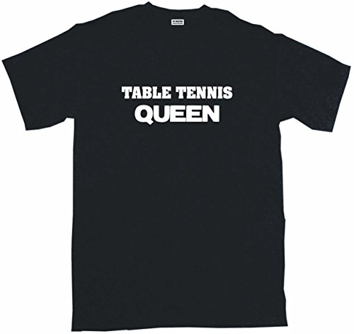 Table Tennis Queen Women's Regular Fit Tee Shirt Small-Black -