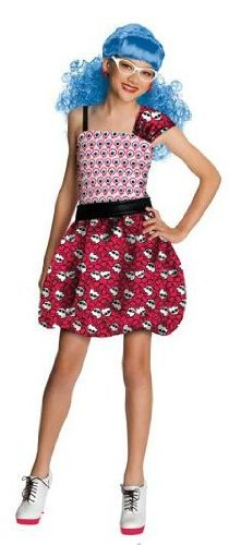 Monster High Dot Dead Gorgeous Ghoulia Yelps Costume, Size Medium (8-10) -