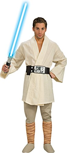 Wars Skywalker Adult Star Luke Costumes Deluxe (Deluxe Luke Skywalker Adult Costume -)