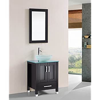Belvedere Designs T9219 Bathroom Vanity Set With Raised Bowl Sink 24 Espresso