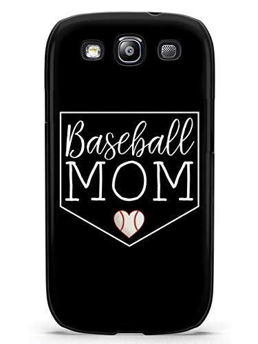 Inspired Cases - 3D Textured Galaxy S3 Case - Protective Phone Cover - Rubber Bumper Cover - Case for Samsung Galaxy S3 - Baseball Mom - Black Case (Baseball Samsung Galaxy S3 Case)