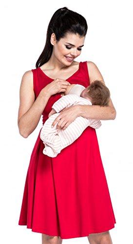 Vestito Zeta A Cura Maternità Strati Delle Ville Di collo Rosso Di V 685c Donne wtqFCtTnr