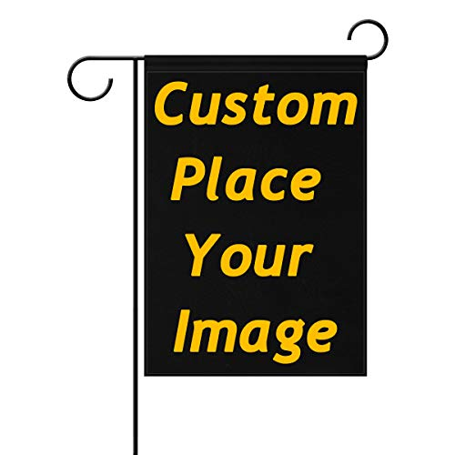 ALAZA U Life Custom DIY Personalized Garden Flag Flags Yard Banner Outside House Flower Pot Double Side Print 12 x 18 inch (Flag Garden Custom Banner)