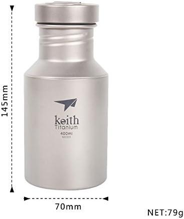 Keith Bouteille deau en titane pour le camping 400/ml//550/ml//700/ml