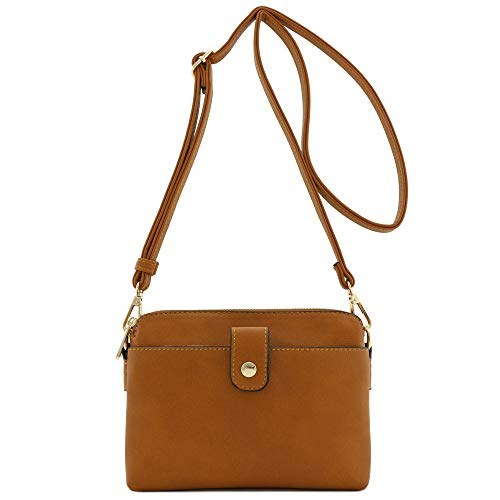 Bag Crossbody Small Double Tan Compartment w8qAF6K4