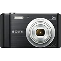 Sony DSCW800 Compact Digital Camera - Black (20.1 MP, 5x Optical Zoom)