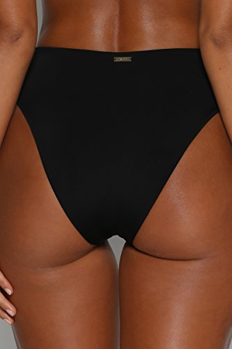 Meyeeka Women Zipper up Bottom Mid-Width Straps Sporty Crop Top Two Pieces Bikini Set S by Meyeeka (Image #5)