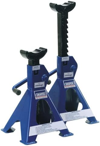 3 Ton Axle Stand for Vehicle Van Caravan Stand Lifting Heavy Duty Metal Steel Alex Jack Stand Car Support Holding Stand Quick Release Ratchet Adjustment for Garage Workshop Usage Pack of 2 Blue