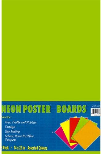 Neon PosterBoard - 14'' x 22'' 50 pcs sku# 1277021MA