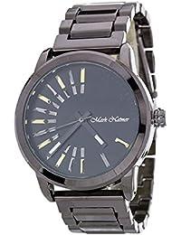 2Chique Boutique Men's Iconic Dials Gunmetal and Black Fashion Watch