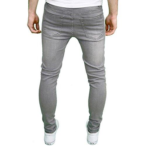 Da Super Stile 526jeanswear Uomo Di Grey Senjo Jeans Aderenti RnSSvqw