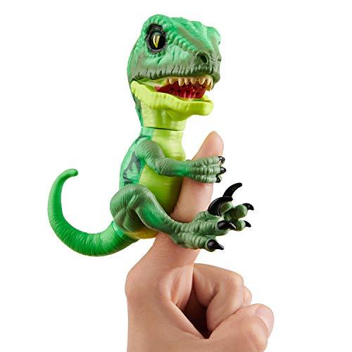 Untamed Raptor - Series 2- by Fingerlings - Hazard (Green) - Interactive Collectible Dinosaur - by WowWee -