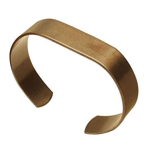Vintaj Natural Brass, Oval Layering Bangle 13mm Wide 18 Gauge Thick, 1 Piece, Brass (Brass Bangle Cuff)