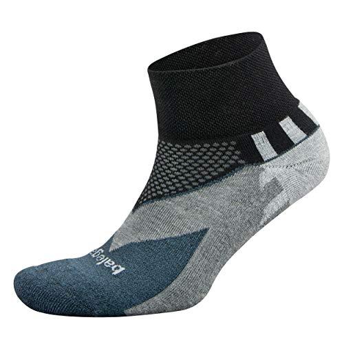 Balega Enduro V-Tech Quarter Socks For Men and Women (1 Pair), Black, Small