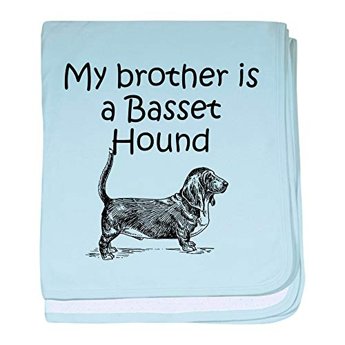 CafePress My Brother is A Basset Hound Baby Blanket, Super Soft Newborn Swaddle