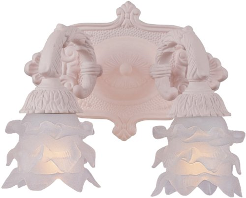 Crystorama 5222-BH Paris Flea Market Collection 2-Light Wall Sconce, Blush Finish with Frosted Lalique Glass (Paris Flea 2 Light Sconce)