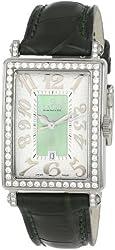 Gevril Women's 7246NL Mini Quartz Avenue of Americas Green Diamond Watch