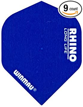 3 x Fly Winmau weiß Standard Flight Rhino 100 My