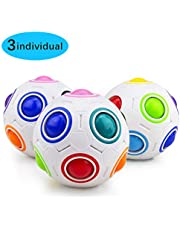 Magic Rainbow Ball, Welltop 3D Ball Puzzle Speed ​​Cube Educatief speelgoed Rainbow Puzzle Ball Stress Relief voor Kinderen en Volwassenen