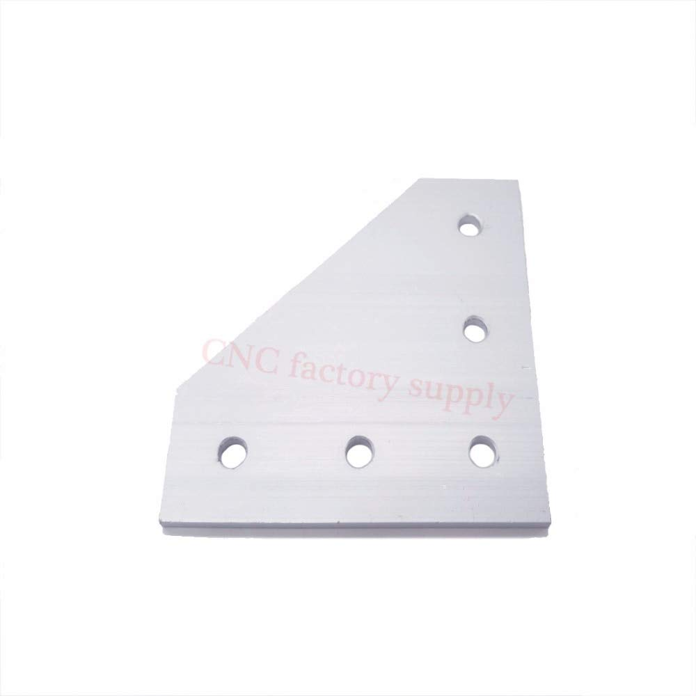 Gimax Hot Sale Anodized 90 Degree Joining Plate with 5 OR 7 Holes for EU Standard Aluminum Profile Slot for Kossel DIY CNC - (Color: 5pcs 4040 5 Holes)