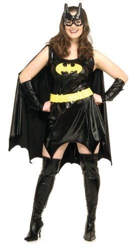 [Rubie's Costume Co - Plus Size Deluxe Adult Batgirl Costume - Size 14-16] (Vintage Comic Book Girl Costume)