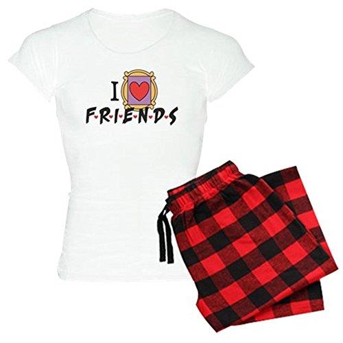 CafePress - I heart Friends TV Show Women's Light Pajamas - Womens Novelty Cotton Pajama Set, Comfortable PJ ()