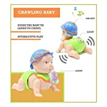 wirescorts battery operated crawling baby toy with music and light for kids- Multi color