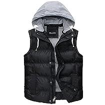 Wantdo Mens Hooded Puffer Vest