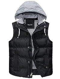 Wantdo Men's Hooded Puffer Vest