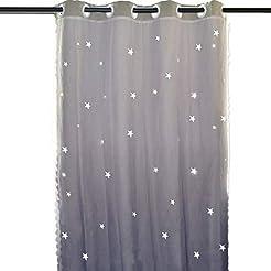 Hughapy Star Curtains Stars Blackout Cur...
