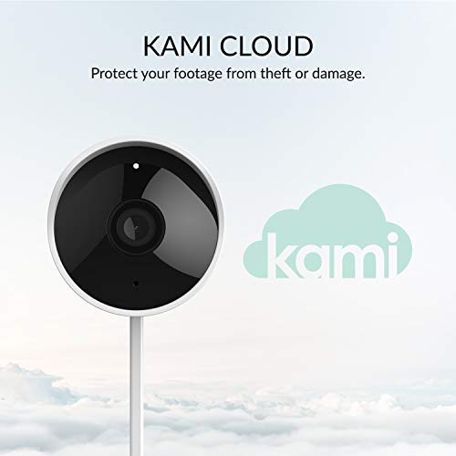 Kami Smart Outdoor Security Camera, 1080p 2.4G Home Camera with Human Detection, Starlight Night Vision, Time Lapse, Activity Zone - kami/YI Home App (77005)