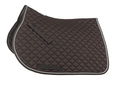 Horze Chooze All Purpose Saddle Pad - Chocolate Brown - Size: Full